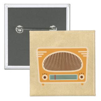 Vintage Tube Radio Collector 2 Inch Square Button