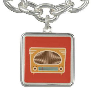 Vintage Tube Radio Collector Charm Bracelet