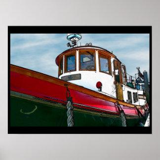 Vintage Tug Boat Poster