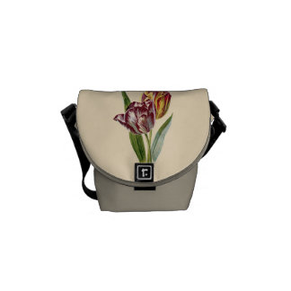 Vintage Tulip Flower Graphic Courier Bag