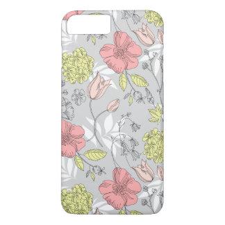 Vintage Tulip Flower Pattern iPhone 8 Plus/7 Plus Case