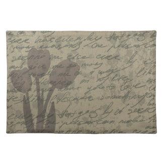 Vintage tulips design placemat