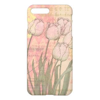 Vintage Tulips on Floral Background iPhone 8 Plus/7 Plus Case