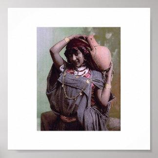 Vintage Tunisia : Bedouin Woman Poster