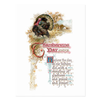 Vintage Turkey and Thanksgiving Verse Postcards