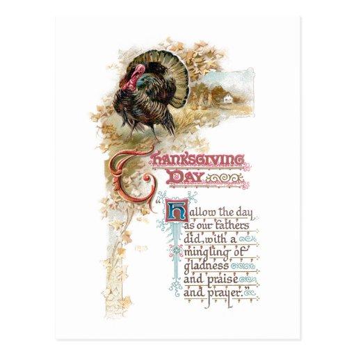 Vintage Turkey and Thanksgiving Verse Postcards
