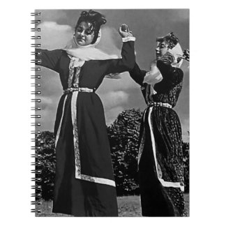 Vintage Turkey Istanbul turkish dance 1970 Spiral Notebook