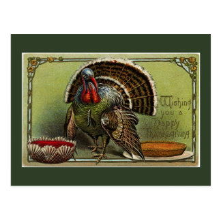Vintage Turkey Wishes Postcard