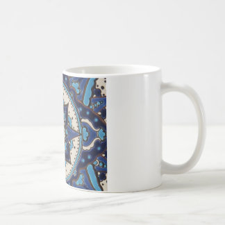Vintage Turkish art blue and white tile design Coffee Mug