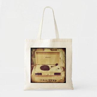 Vintage Turntable Tote Bag