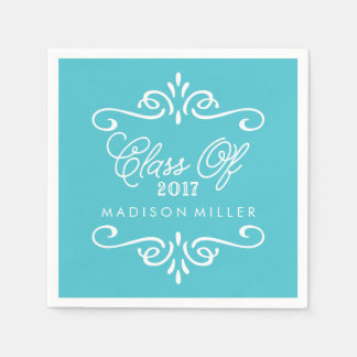 Vintage Turquoise | Graduation Napkins Disposable Napkins
