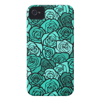 Vintage turquoise roses BlackBerry Bold Case