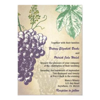 Vintage Tuscan Winery Vineyard Wedding Invitations