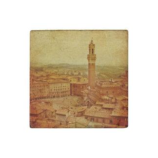 Vintage Tuscany, medieval Siena Stone Magnets