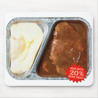Vintage TV Dinner Salisbury Steak Now More Meat Mouse Pad
