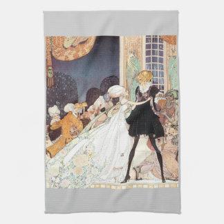 Vintage Twelve Dancing Princesses by Kay Nielsen Kitchen Towels