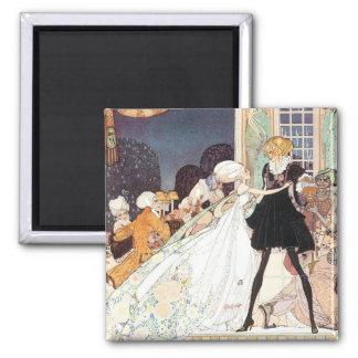 Vintage Twelve Dancing Princesses by Kay Nielsen Square Magnet