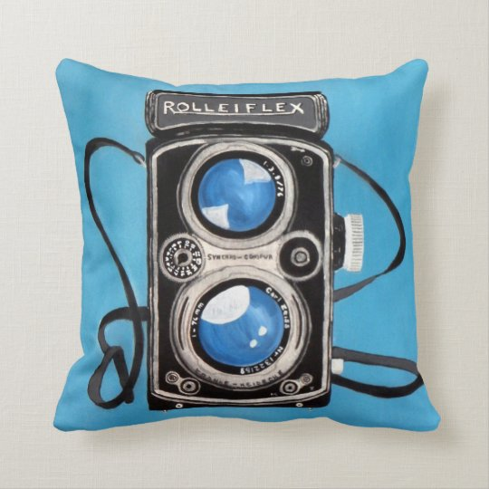 Vintage Twin Lens Camera Throw Pillow