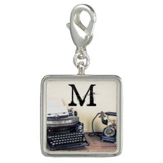 Vintage Type Writer Victorian Telep Monogram Charm