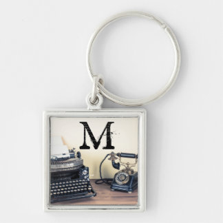 Vintage Type Writer Victorian Telephone Key Chain