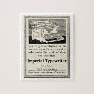 Vintage typewriter advert from 1935 puzzle
