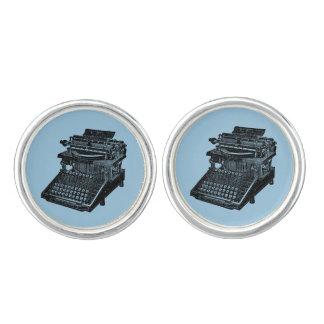 Vintage Typewriter Blue Cuff Links