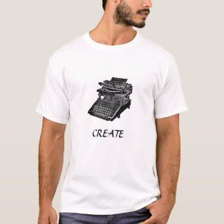 Vintage Typewriter CREATE T-Shirt