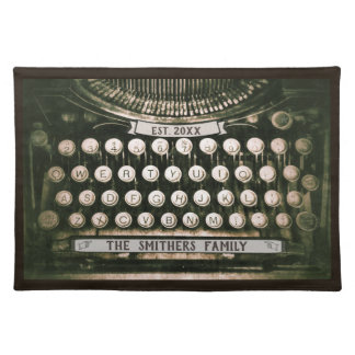Vintage Typewriter Custom Family Keepsake Placemat