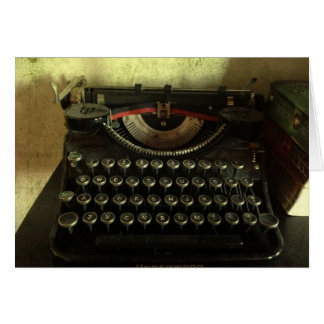 Vintage Typewriter Greeting Card