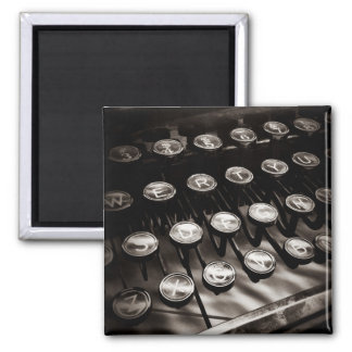 Vintage Typewriter Keys in Black and White Magnet