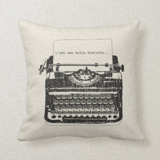 Vintage Typewriter Pillow