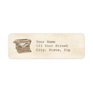 Vintage Typewriter Return Address Label