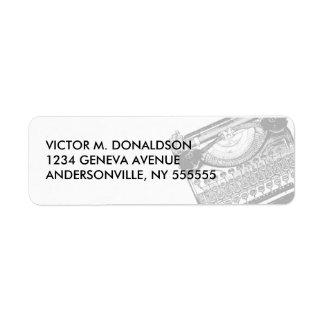 Vintage Typewriter Return Address Labels