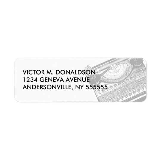 Vintage Typewriter Return Address Labels