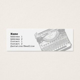Vintage Typewriter Skinny Profile Cards