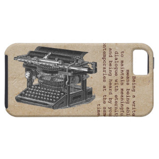Vintage typewriter with text iPhone 5 cover