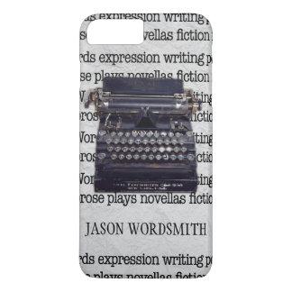 Vintage Typewriter with Typed Words iPhone 7 Plus Case