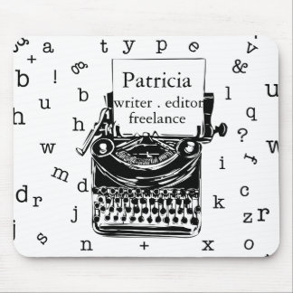 Vintage Typewriter with Typography Letters Mouse Pad