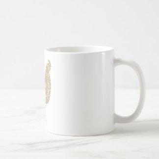 Vintage typographic chicken butcher cuts diagram coffee mug