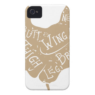 Vintage typographic chicken butcher cuts diagram iPhone 4 covers