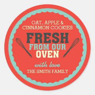 Vintage Typography Food Gift Sticker