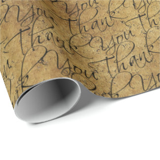 Vintage Typography - Thank You Wrapping Paper
