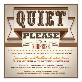 vintage typography unique anniversary invitations