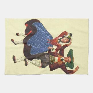 Vintage Tyrolean dancers, Austria Kitchen Towel