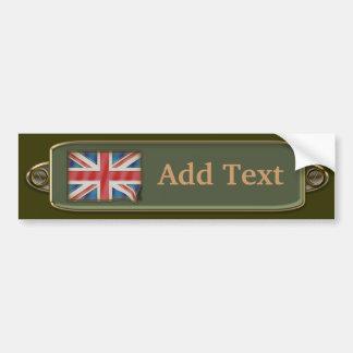 Vintage UK Flag Bumper Sticker Template 3