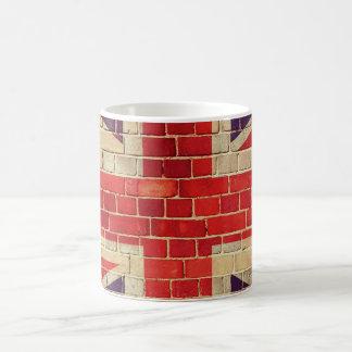 Vintage UK flag on a brick wall Coffee Mug