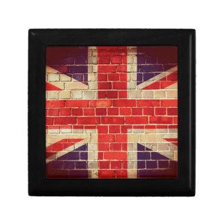 Vintage UK flag on a brick wall Gift Box