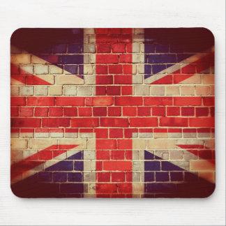 Vintage UK flag on a brick wall Mouse Pad
