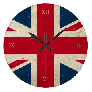 Vintage UK Flag Union Jack British Wall Clock