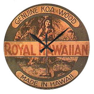 Vintage Ukelele Label Wall Clock